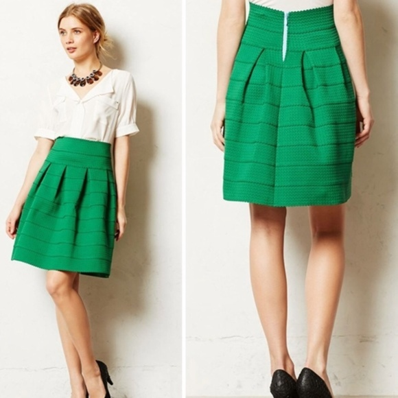 Anthropologie Dresses & Skirts - Anthropologie Girls from Savoy Green Ponte Skirt